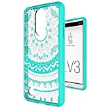 LG Aristo Case,LG Phoenix 3 Case,LG Risio 2/ Rebel 2 LTE/Fortune/K8 2017 Case Clear with Screen Protector,Anoke Scratch Resistant Cute Girls Ultra Thin Slim Fit Mandala TPU Phone Cover for LG LV3 Mint