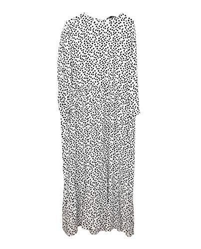 Zara Women Printed Dress 4886/058/250 (X-Large) White (Zara Clothes For Women)