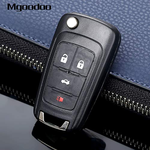 Daphot-Store - 4 Button Flip Folding Remote Key Case Shell Replacement Entry Fob For Buick LaCrosse Regal Verano GMC Terrain Car Covers by Daphot★Store (Image #2)