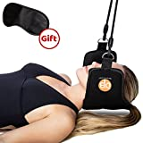 Premium Adjustable Hammock for Neck and Head – Cervical Traction Device for Pain Relief - Includes Free Contoured Sleep Eye Mask – By DTB Innovations