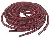 Mshega Premium Round Boots Shoelaces Athletic Shoe Laces(Black Red,152)