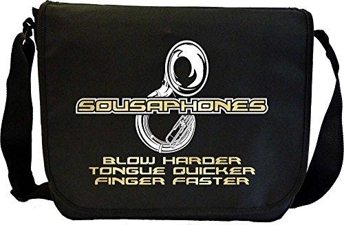 Sousaphone Blow Harder - Sheet Music Document Bag Musik Notentasche MusicaliTee