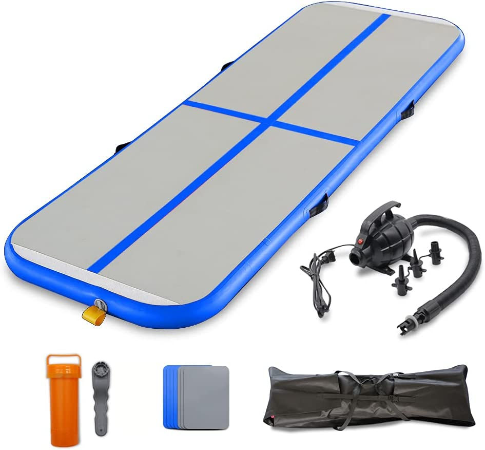 SAYOK Gymnastics Air Mat Tumble Track Tumbling Mat Inflatable Floor Mats for Home Use/Tumble/Gym/Training/Yoga/Beach/Water