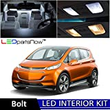 LEDpartsNow 2017-2018 Chevy Bolt LED Interior Lights Accessories Replacement Package Kit (9 Pieces), WHITE +Reverse Lights