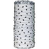 QING OUTDOOR Quick Dry UPF 50+ Anti UV Sports Headwear,Neck Gaiter, Bandana, Balaclava, (white raindrop)