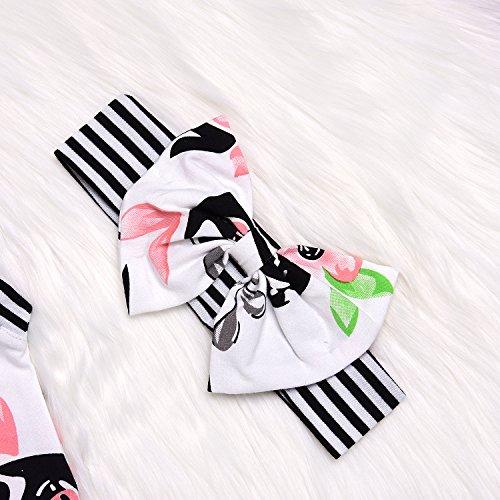 AILOM Newborn Infant Baby Boys Girls Flower Print Stripe Sleeveless Romper Summer Bodysuit Jumpsuit Outfits With Headband