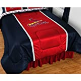MLB St. Louis Cardinals Sidelines Comforter, King, Bright Red