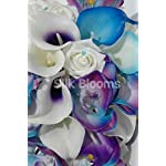 Silk-Blooms-Ltd-Galaxy-Blue-Orchid-Rose-Calla-Lily-Tropical-Wedding-Bouquet