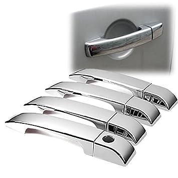 Amazon.com: Triple Espejo cromado Side Door Handle Cover ...