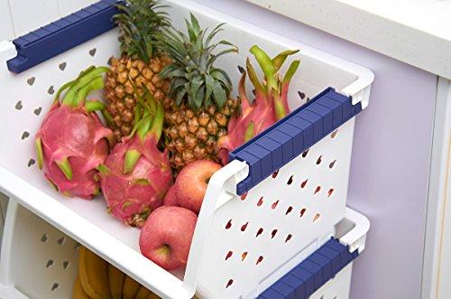 Lohome 174 Storage Bins Household Kitchen Plastic Stackable