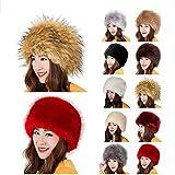 Women's Russian Faux Fox Fur Ushanka Cossack Style Winter Warm Hat
