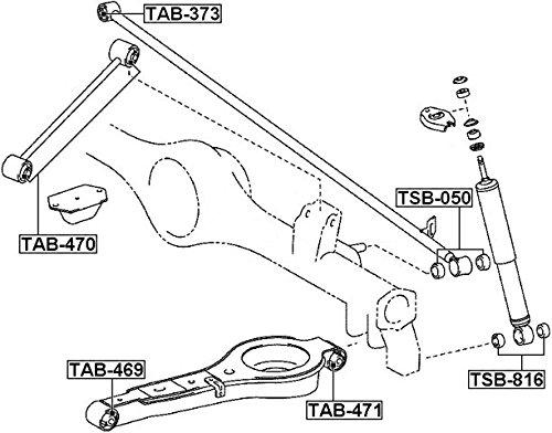 Febest 487020K010 for Rear Arm Arm Bushing For Toyota