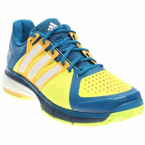 Adidas Performance Mens Energy Boost Scarpa Da Tennis Unità Blu-bianco Giallo Solare