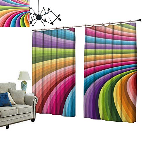 PRUNUS Colorful Waterproof Curtain with Hook Abstract Background Vector Can be Used for Wallpaper,Web Page Background,Web Banners Very Good Touch,W72 xL45