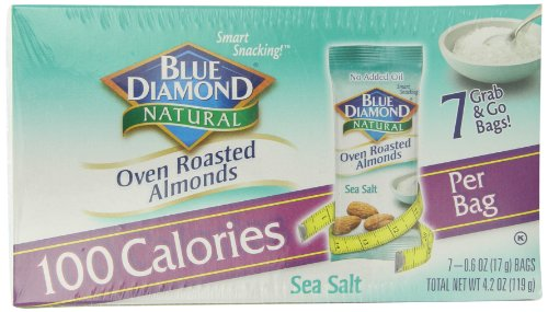 Calories in roasted almonds with salt
