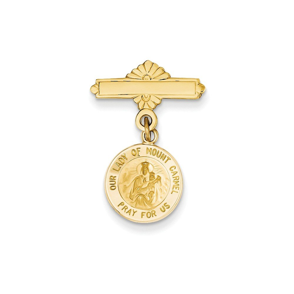 Top 10 Jewelry Gift 14k Our Lady of Mount Carmel Medal Pin