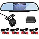 CAR ROVER Car Rear View Camera With 4.3 Inch Back View Mirror Monitor With Visible Original Flat Effect Parking...