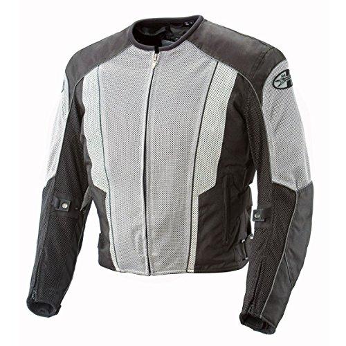 (Joe Rocket Phoenix 5.0 Men's Mesh Motorcycle Riding Jacket (Gray/Black, Large Tall))