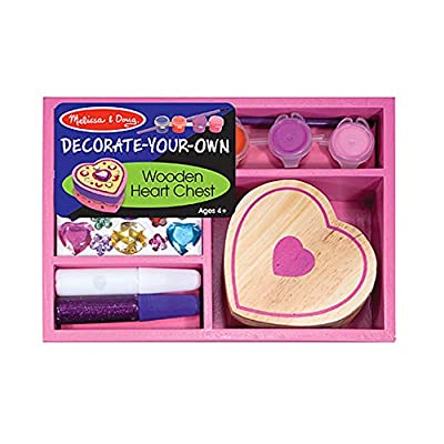 Melissa & Doug Decorate-Your-Own Wooden Heart Box: Melissa & Doug: Toys & Games
