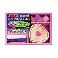 Melissa y Doug decoran tu propia caja de madera con forma de corazón Craft Kit