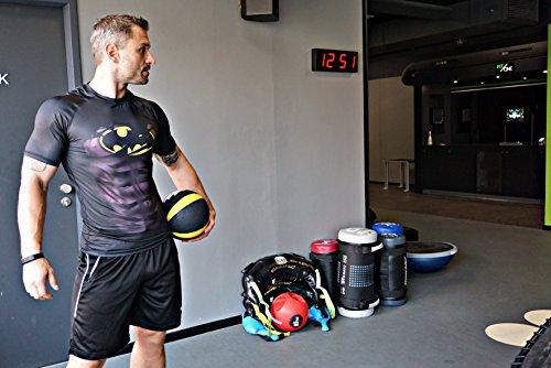 Anti Séchage Vêtement Rapide Musculation Compression Matériel Gym shirt Noir Khroom Ventilé Homme Transpiration T Fitness À Sportif Et héros Super Extensible Pour De Course Batman n18P8xp7
