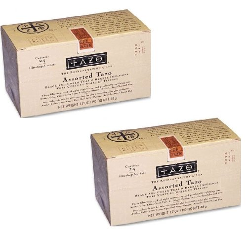 Tazo Products - Tazo - Assorted Tea Bags, Three Each Flavor, 24 Tea Bags/Box - Sold As 1 Box - Eight teas to choose from. - Three of each flavor included. -, 2 Pack -