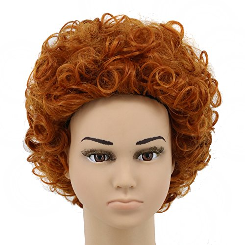 Yuehong Short Orange Curly Kids Anime Cosplay Wig For Halloween Party Hair Wigs -