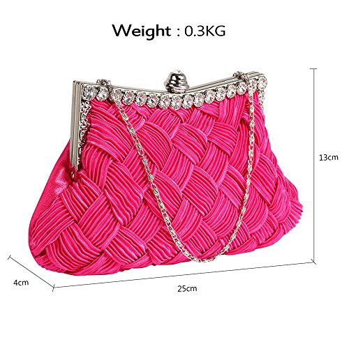 Evening Evening Pink Gorgeous DELIVERY Crystal Gorgeous UK Bag Crystal FREE Bag Clutch Pink UK Clutch FREE WqawUAavxY