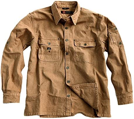 Kakadu Australia Men`s Over Shirt Long Sleeve Worker Shirt- Toorak