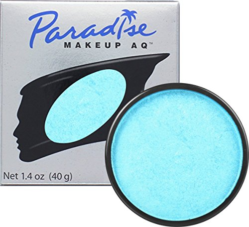 Mehron Makeup Paradise Makeup AQ Face & Body Paint - Bleu Bebe/Light Blue, Briiant Series - 40gm