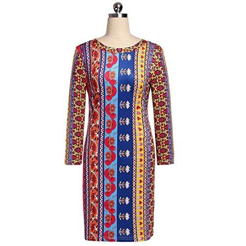 Robe,Malloom Les Femmes De Mode Sexy Robe Nationale De Plage Casual Imprimé Robe De Soirée