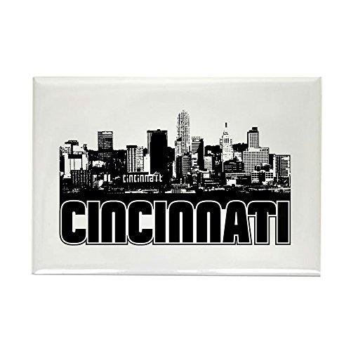 CafePress Cincinnati Skyline Rectangle Magnet Rectangle Magnet, 2