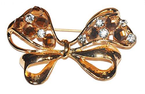 Golden Bow Brooch - 1
