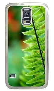 Samsung Galaxy S5 Green Fern PC Custom Samsung Galaxy S5 Case Cover Transparent