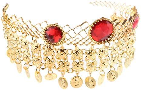 [해외]Chiwanji 밸리 댄스 크리스탈 헤드 드레스 헤어 밴드 동전 된 헤어 액세서리 금속 / chiwanji belly dance crystal headdress hair band with coin Hair accessories metal