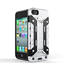 IPhone5s SE Case,2 In 1 New Armour Tough Style Hybrid Dual Layer Armor Defender PC Hard Cases With Stand [Shockproof Case] For IPhone 5s SE ( Color : Silver-Iphone5s Se )