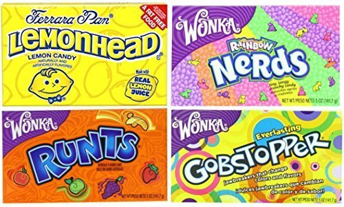 Movie Theater Candy 4 Flavor Variety Pack: (1) Rainbow Ne...