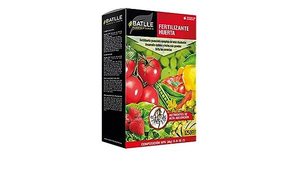 Abonos - Fertilizante Huerta caja 1250g. - Batlle: Amazon.es: Jardín