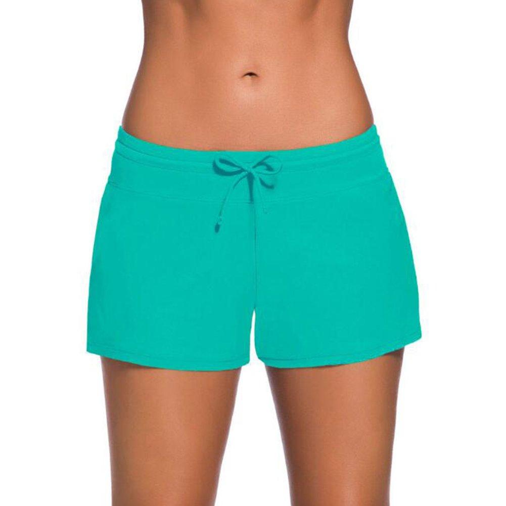 Damen Summer Swim Shorts Mxssi Schwimmen Surfen Shorts Strand Shorts mit elastischer Taille