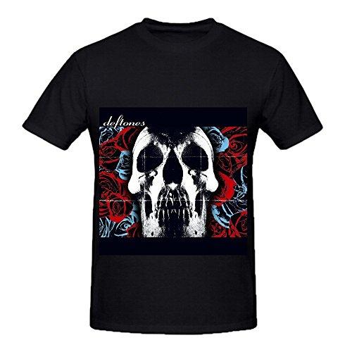Deftones Deftones Pop Album Cover Mens Crew Neck Casual Shirts Black