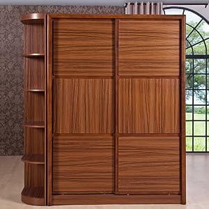 簡易組合趟門大衣柜 中式實木整體衣柜 儲物家具c916-2 二趟門(帶角柜