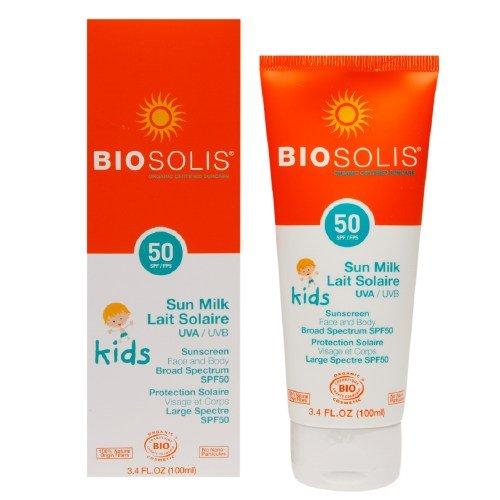 Biosolis Kids Sun Milk Face & Body Organic Sunscreen SPF 50 3.4 fl oz