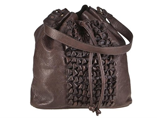 Greenburry Loops Beuteltasche Alicia piel 32 cm Chocolate