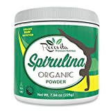 Recovita Organic Spirulina Powder – Powerful Natural Vitamin & Cellular Health Supplement for Men & Women - 225g Jar - Non GMO and Organic Certified