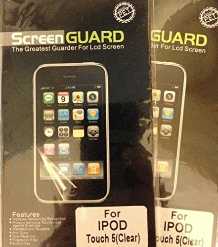 2 x ClearScreen Guard LCD Screen Protector For Apple iPod Touch 5G 5th Gen (Screen Lcd Ipod Touch 5g)
