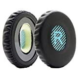 MMOBIEL Ear Pads Cushions Compatible with Bose Sound Link On-Ear Headset OE OE2 OE2i Protein Leather (Black/Blue)
