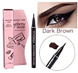 Long Lasting Waterproof Eyebrow Tattoo Pen Pencil Liner Eyebrow Makeup - Lasts Up to 7 Days! (Dark Brown)