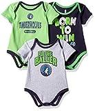 NBA by Outerstuff NBA Newborn & Infant Minnesota Timberwolves Little Fan 3pc Bodysuit Set, Heather Grey, 24 Months