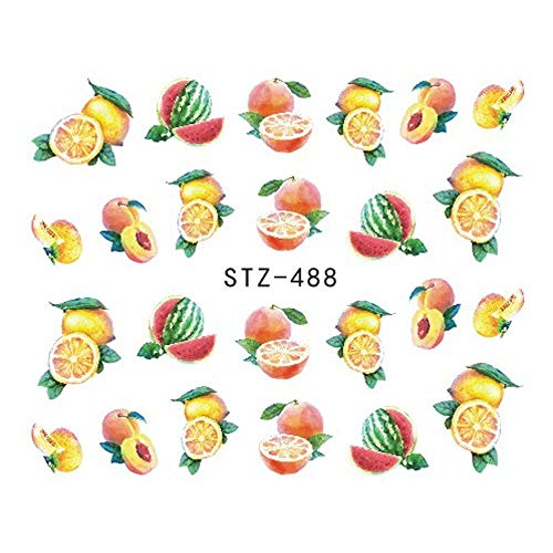 - 1 piece 1Sheet Fruit Cake Nail Art Water Transfer Stickers Sweet Pattern Watermark Tattoo Nail Tips Decals DIY Decoration Tools BESTZ444