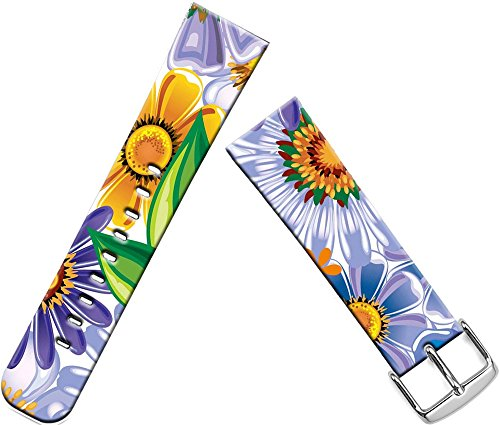 Apple Sunflower (Iwatch band 38mm leather,girls apple Watch Series 2 Series 1 Iwatch 2 sport Genuine leather strap purple beautiful yellow abstract sunflowers)